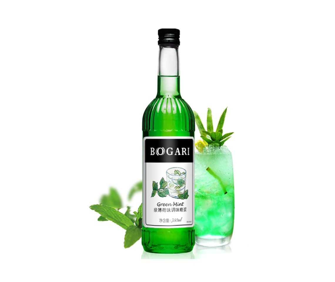 Best Green Mint Syrup for cocktails, mocktails, coffee and bubble teas