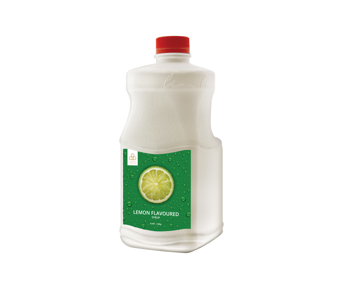 Lemon concentrated wholesale boba tea syrup for popping pearls