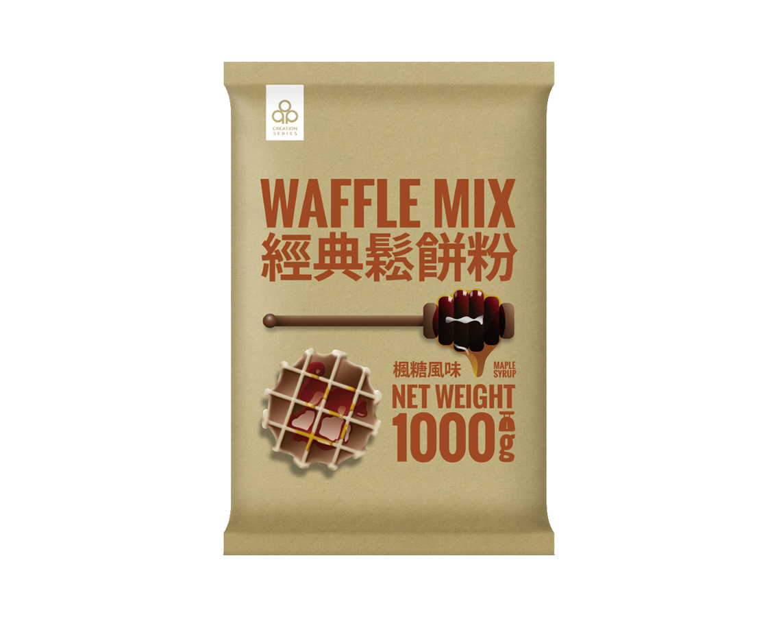 Maple flavor waffle mix, homemade waffles